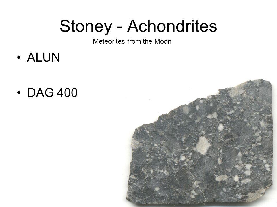 Stoney - Achondrites ALUN DAG 400 Meteorites from the Moon