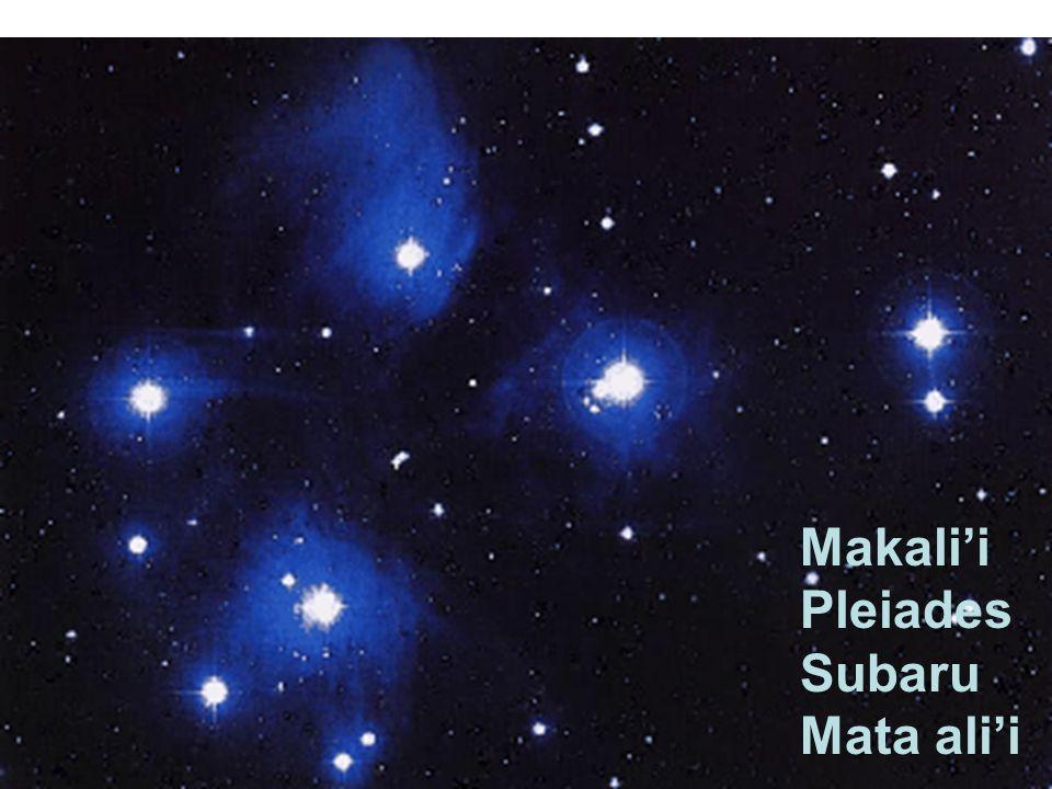 Makalii Pleiades Subaru Mata alii