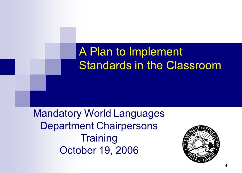 22 Using Marzanos Taxonomic Levels WL.Y1.5.1 Use oral language skills to make simple presentations.