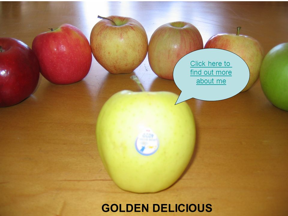 GOLDEN DELICIOUS Click here to find out more about me