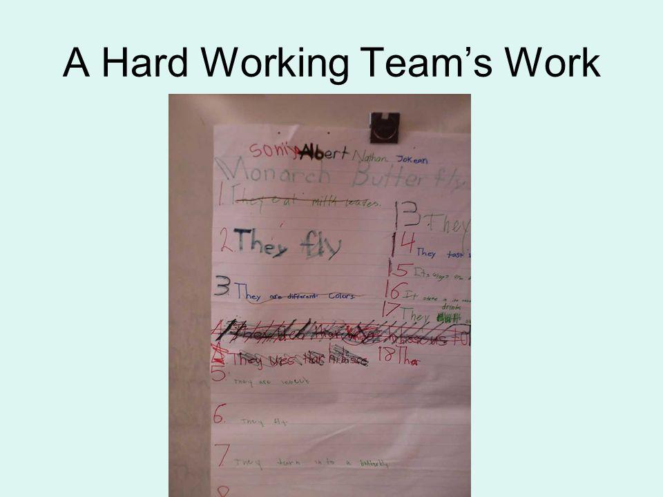 A Hard Working Teams Work