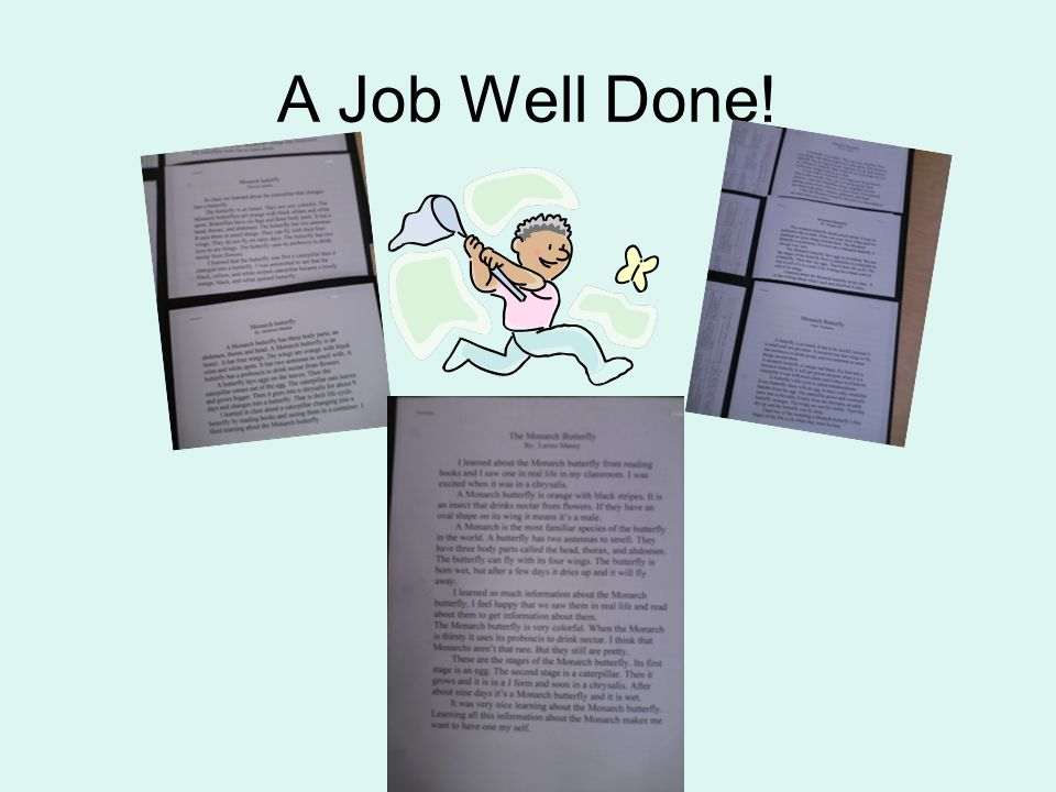 A Job Well Done!