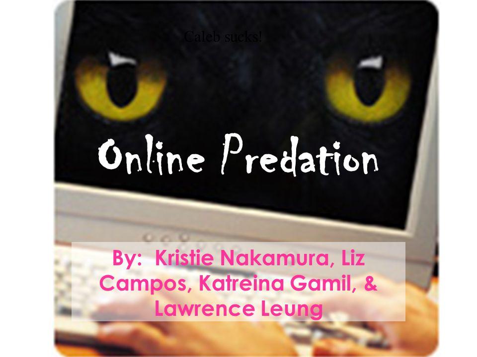 Online Predation By: Kristie Nakamura, Liz Campos, Katreina Gamil, & Lawrence Leung Caleb sucks!
