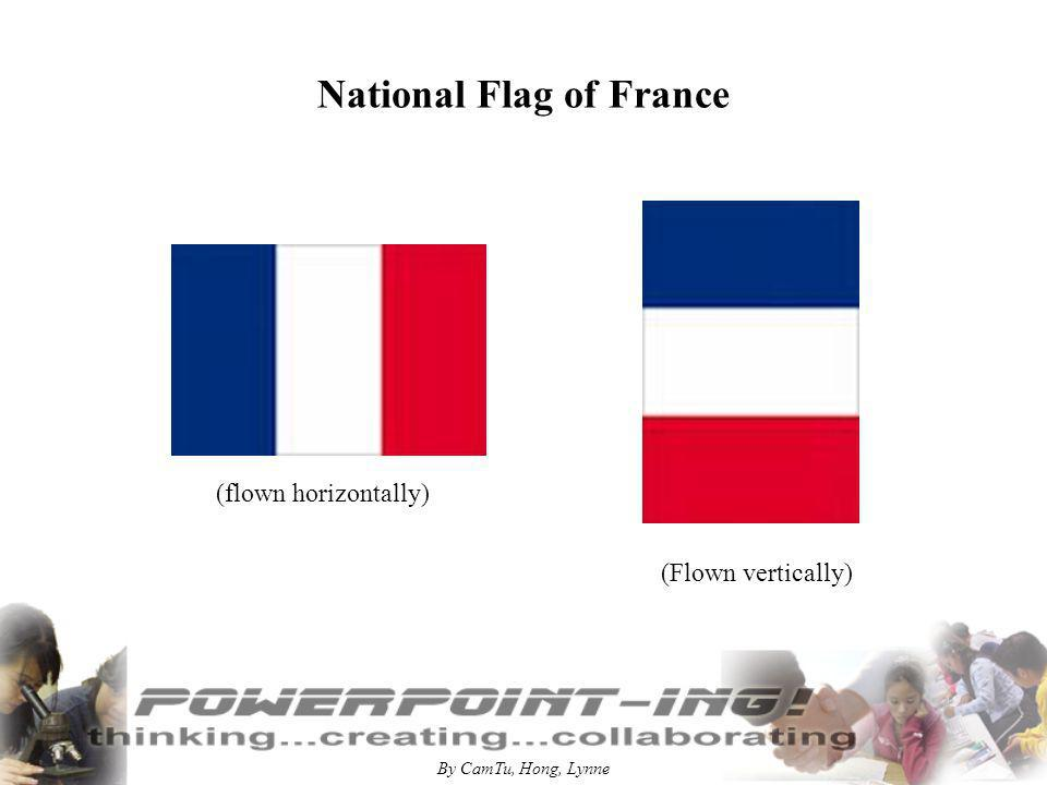 By CamTu, Hong, Lynne National Flag of France (flown horizontally) (Flown vertically)