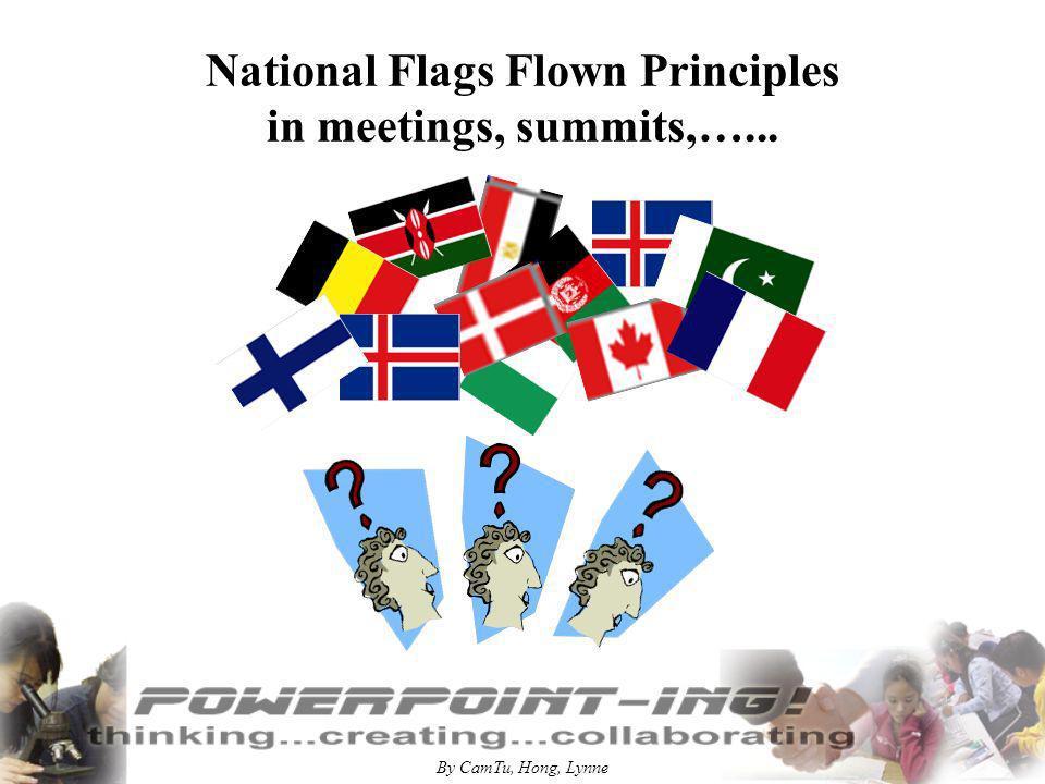 By CamTu, Hong, Lynne National Flags Flown Principles in meetings, summits,…...