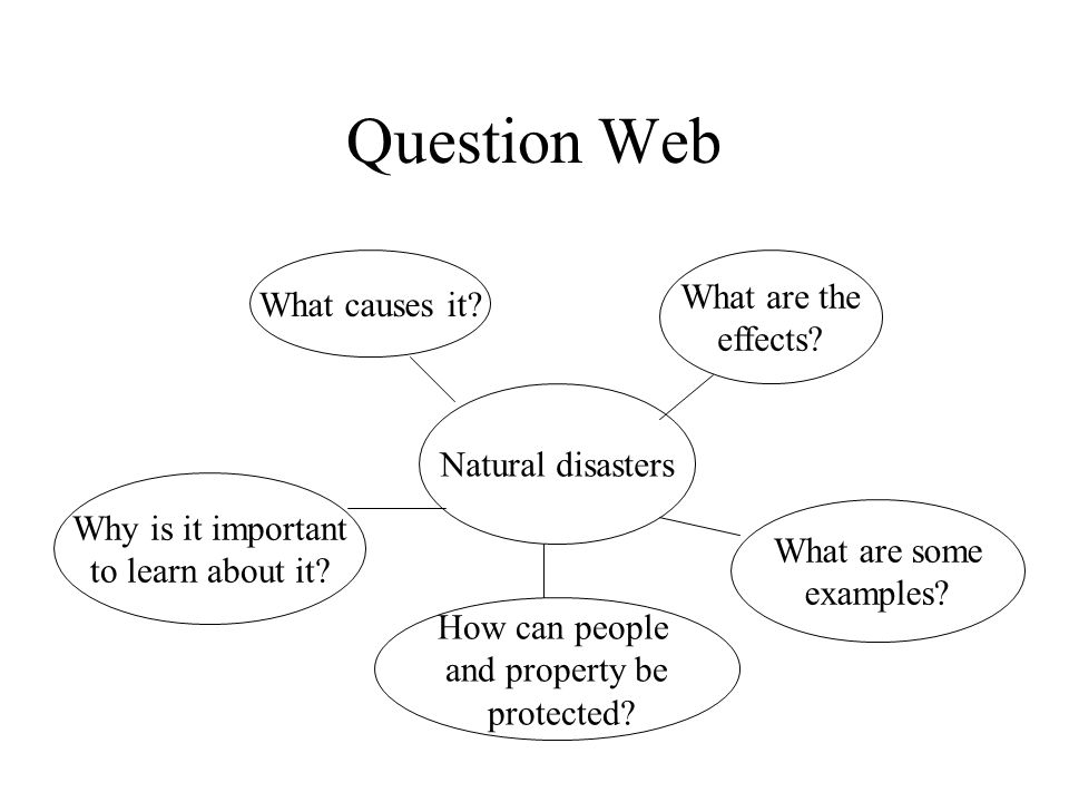 Question Web Natural disasters Why is it important to learn about it.