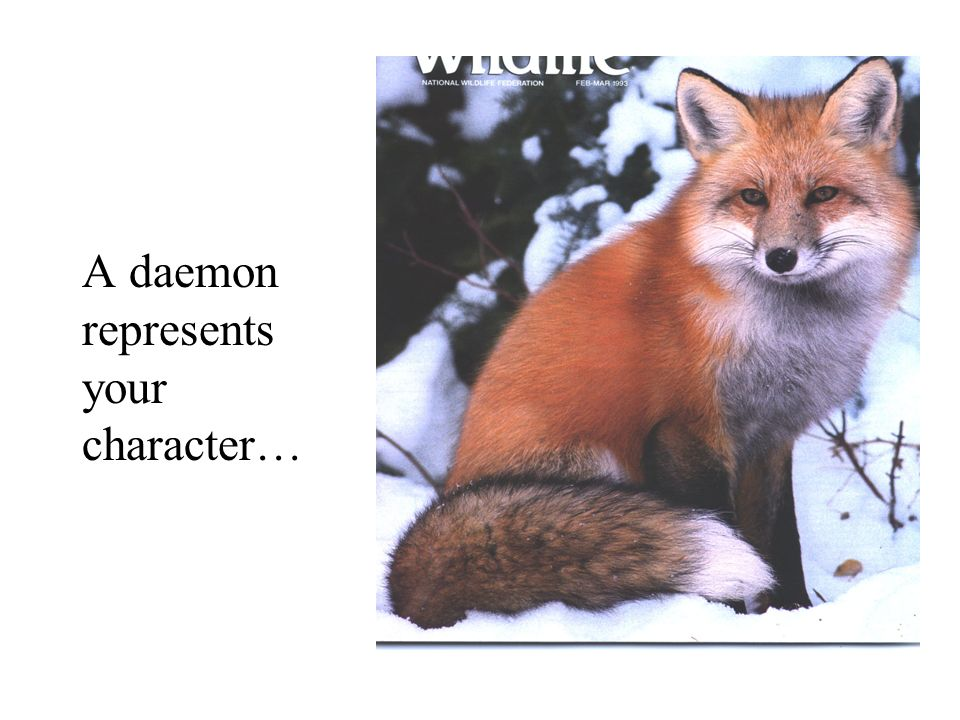 A daemon represents your character…