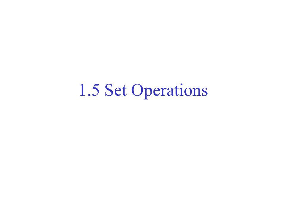 1.5 Set Operations