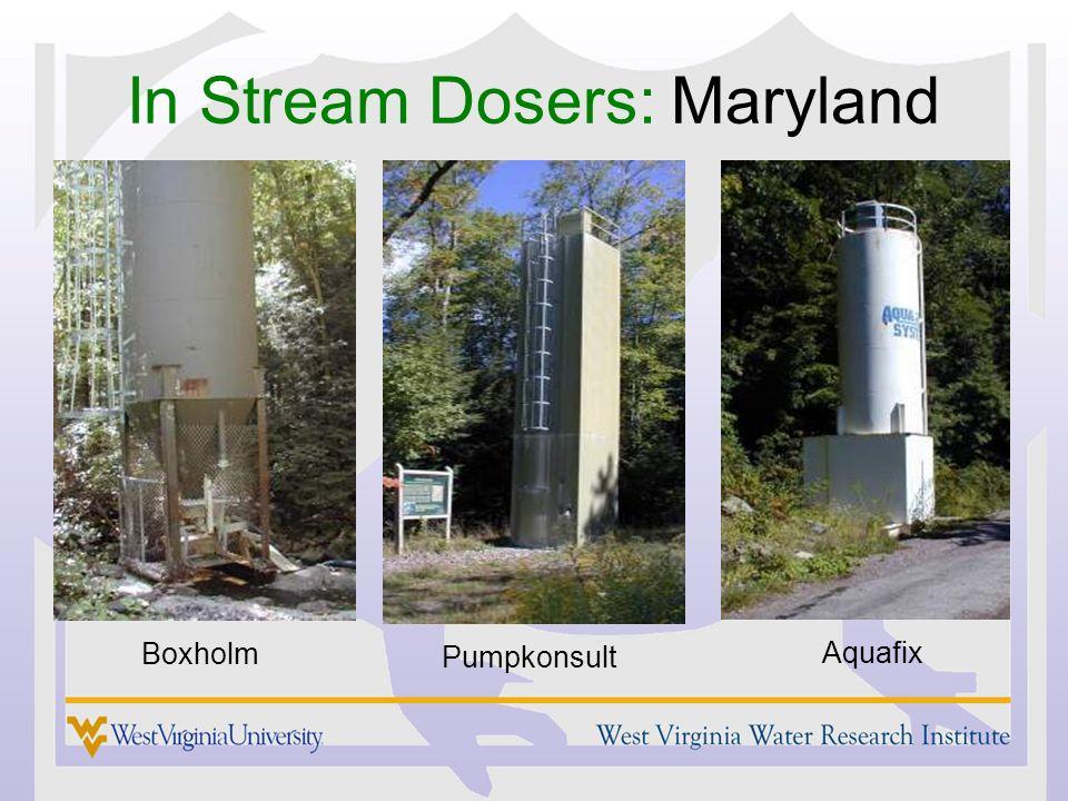 In Stream Dosers: Maryland Boxholm Pumpkonsult Aquafix