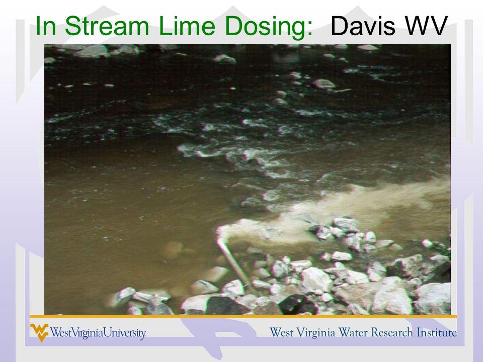 In Stream Lime Dosing: Davis WV