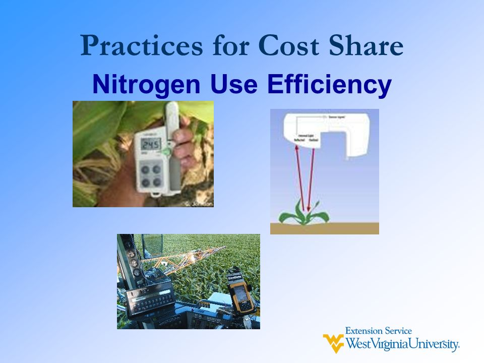 Practices for Cost Share Nitrogen Use Efficiency