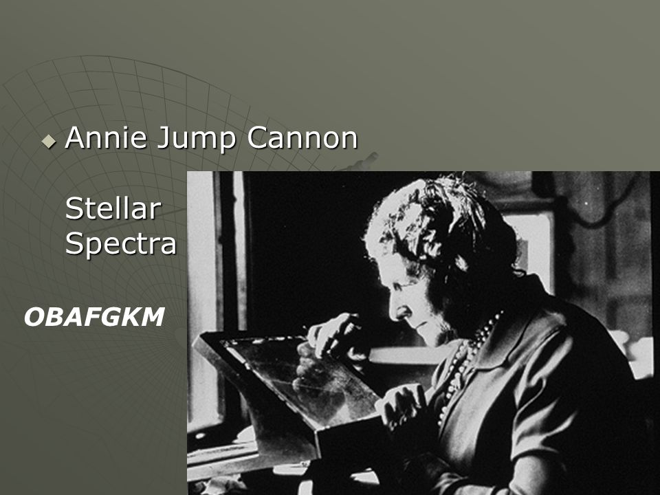 Annie Jump Cannon Stellar Spectra Annie Jump Cannon Stellar Spectra OBAFGKM