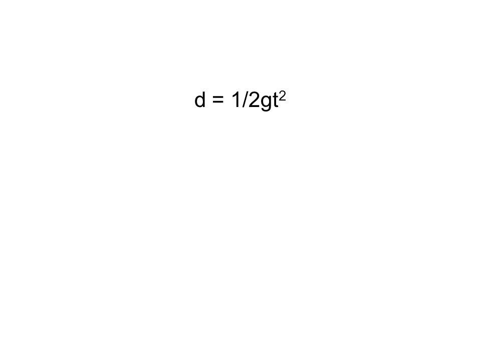 d = 1/2gt 2