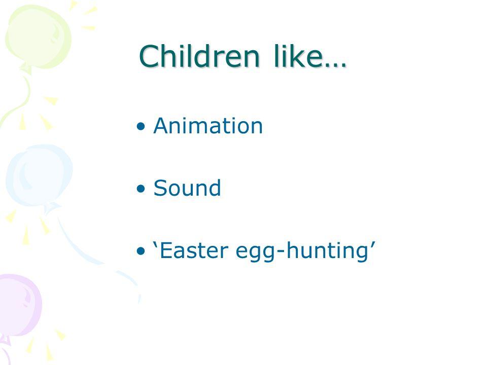 Children like… Animation Sound Easter egg-hunting