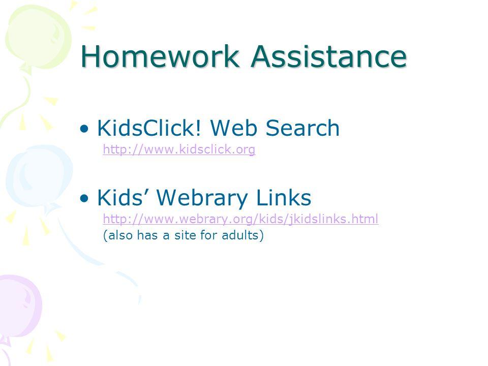 Homework Assistance KidsClick.