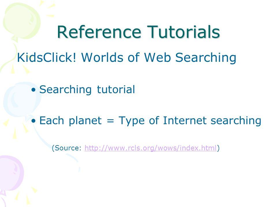 Reference Tutorials KidsClick.