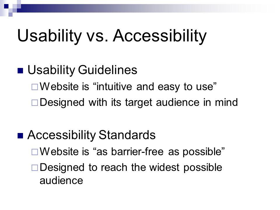 Usability vs.