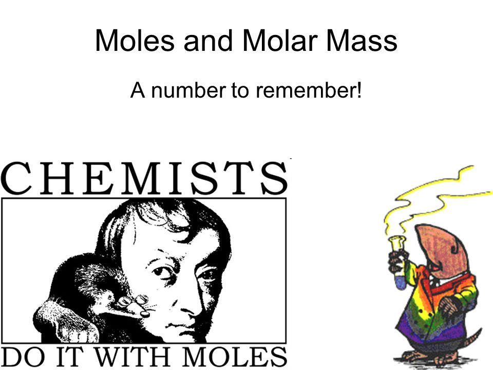 Moles and Molar Mass A number to remember!