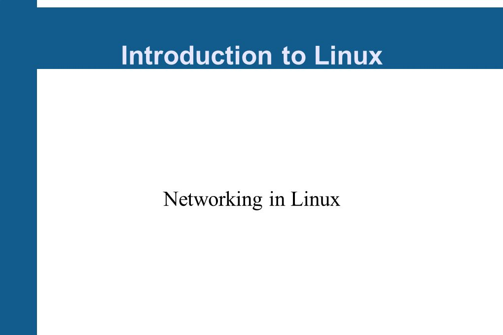 Introduction to Linux Networking in Linux