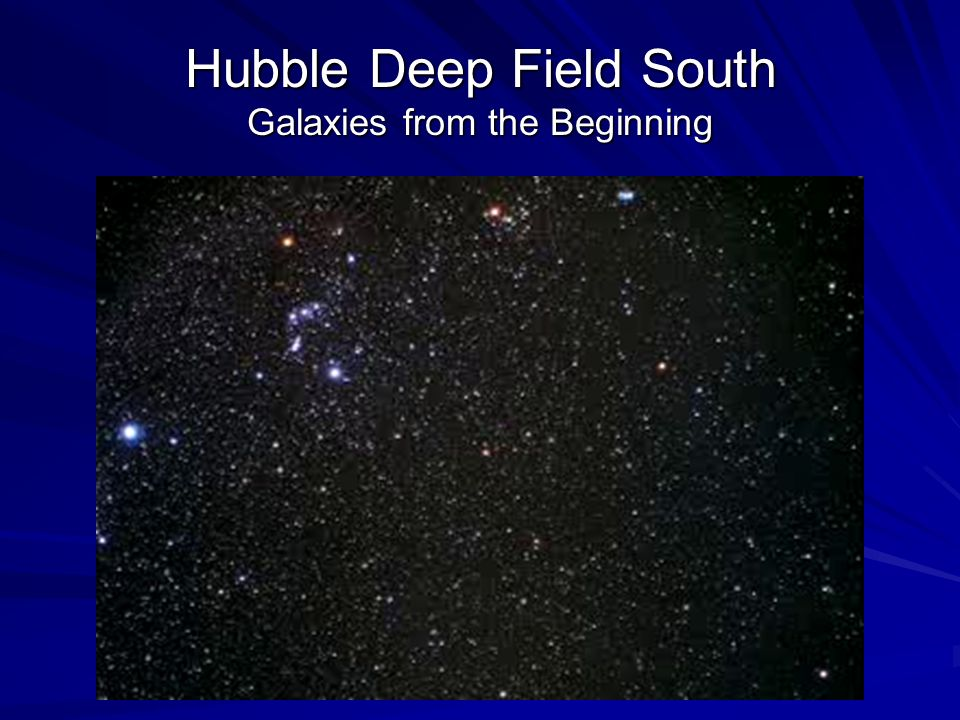 Hubble Deep Field South Galaxies from the Beginning