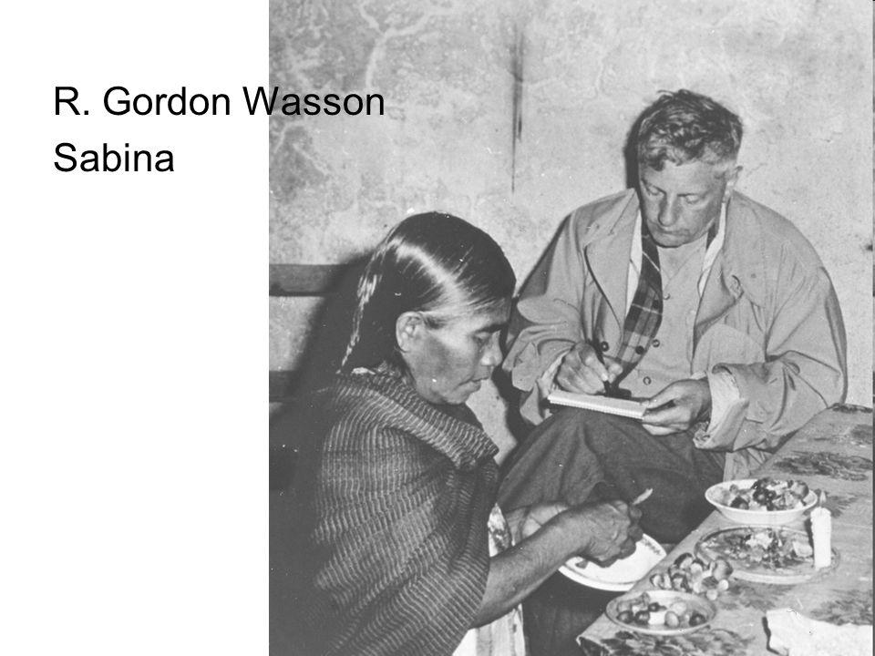 R. Gordon Wasson Sabina