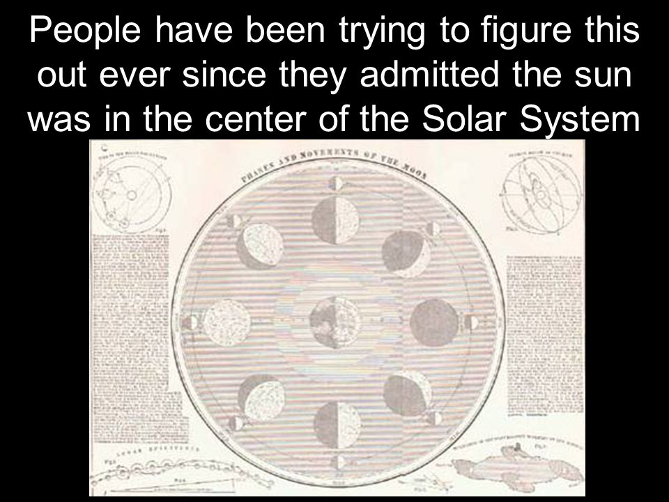 People have been trying to figure this out ever since they admitted the sun was in the center of the Solar System