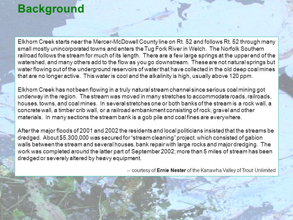 Elkhorn Creek starts near the Mercer-McDowell County line on Rt.