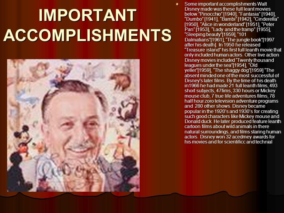 Background info Walter Elias Disney was born on December 5,1901, he died on December 15,1966.Walts parents raised 5 children, Herbert [17], Raymond[15