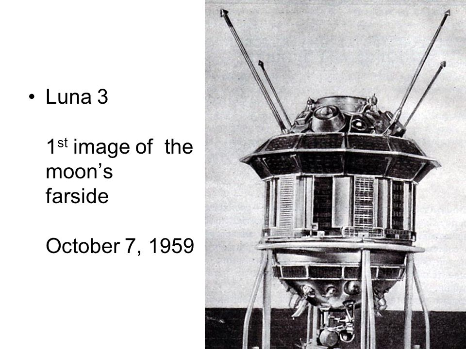 Luna 3 1 st image of the moons farside October 7, 1959