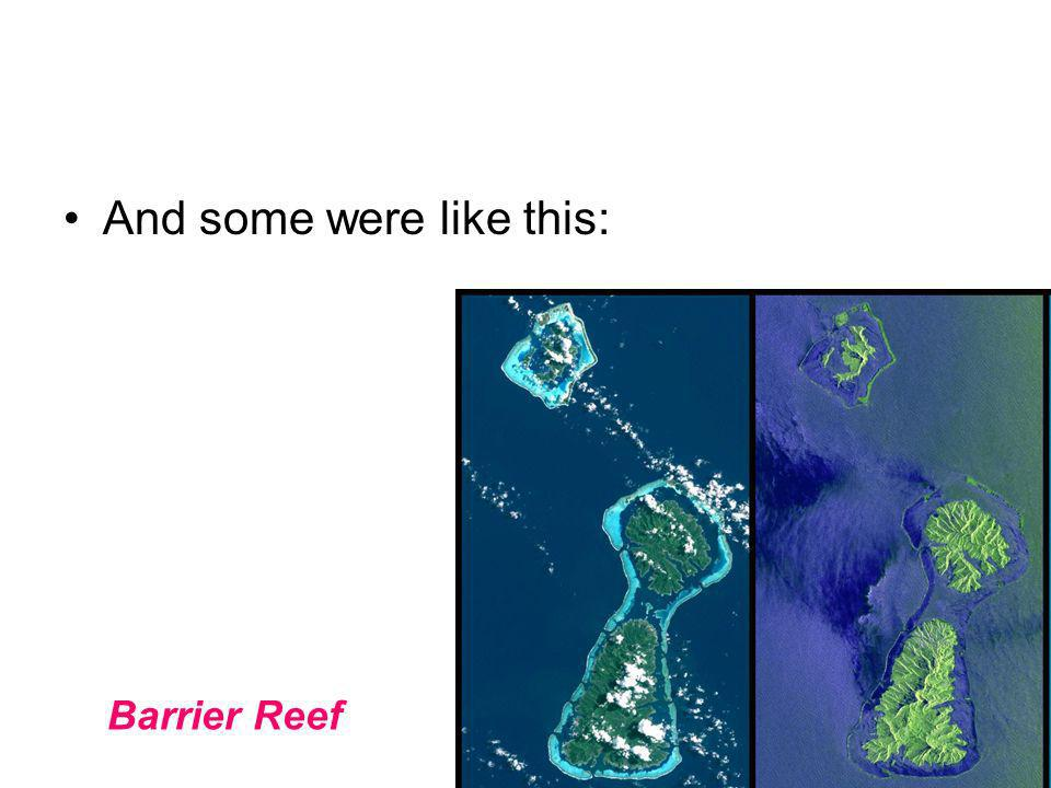 And some were like this: Barrier Reef