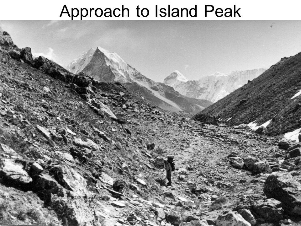 Approach to Island Peak