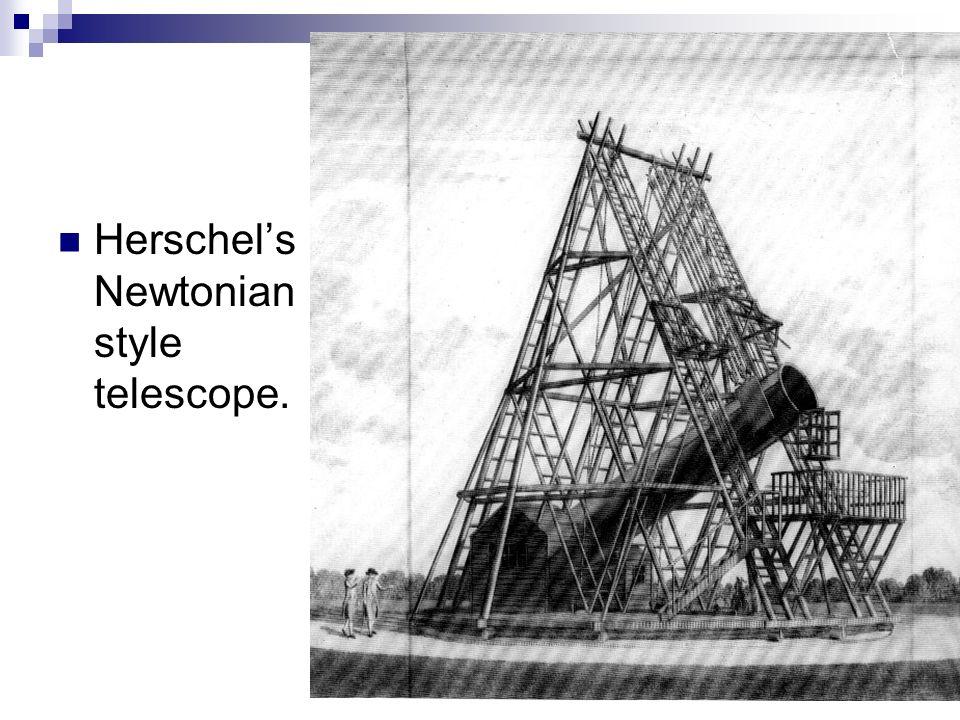 Herschels Newtonian style telescope.