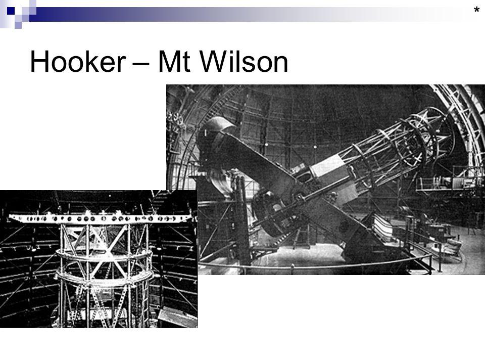 Hooker – Mt Wilson *