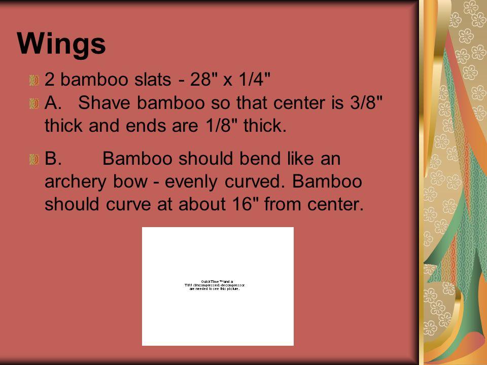 Wings 2 bamboo slats - 28