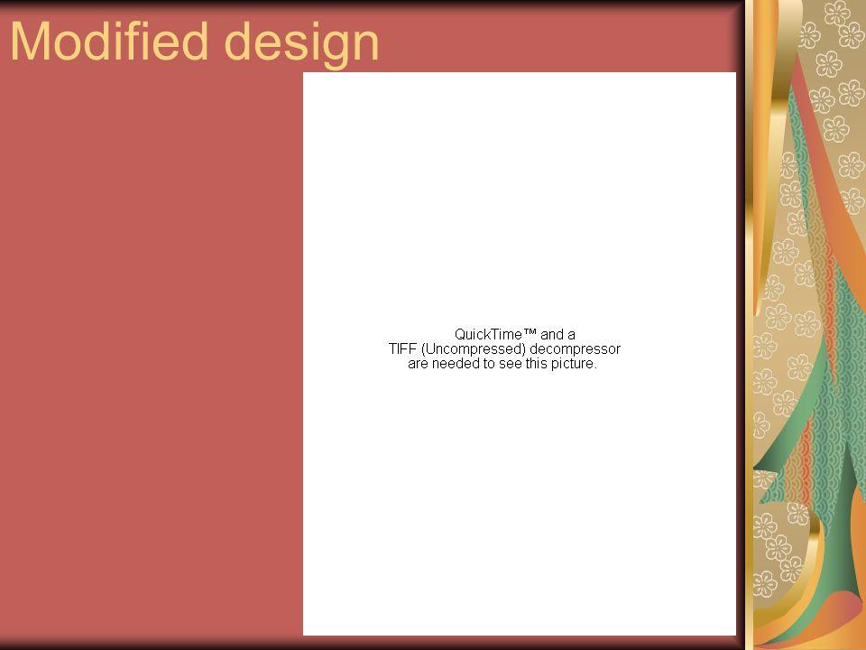 Modified design
