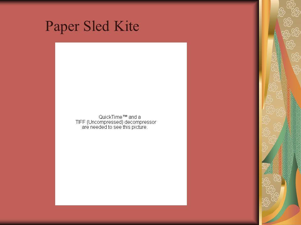 Paper Sled Kite