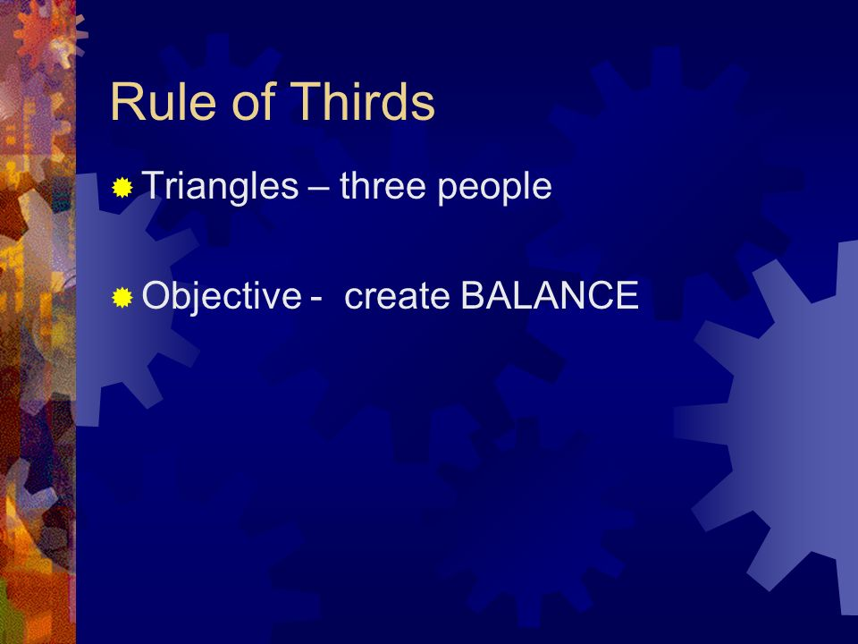 Rule of Thirds - Interview Look Space Is needed to show what directions the person is facing