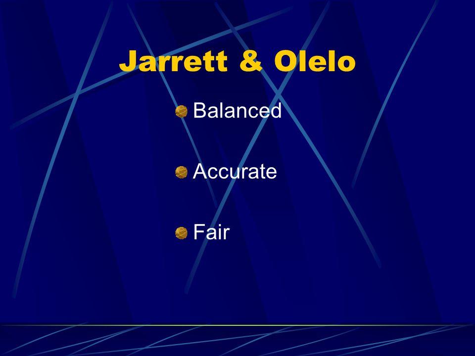Jarrett & Olelo Balanced Accurate Fair