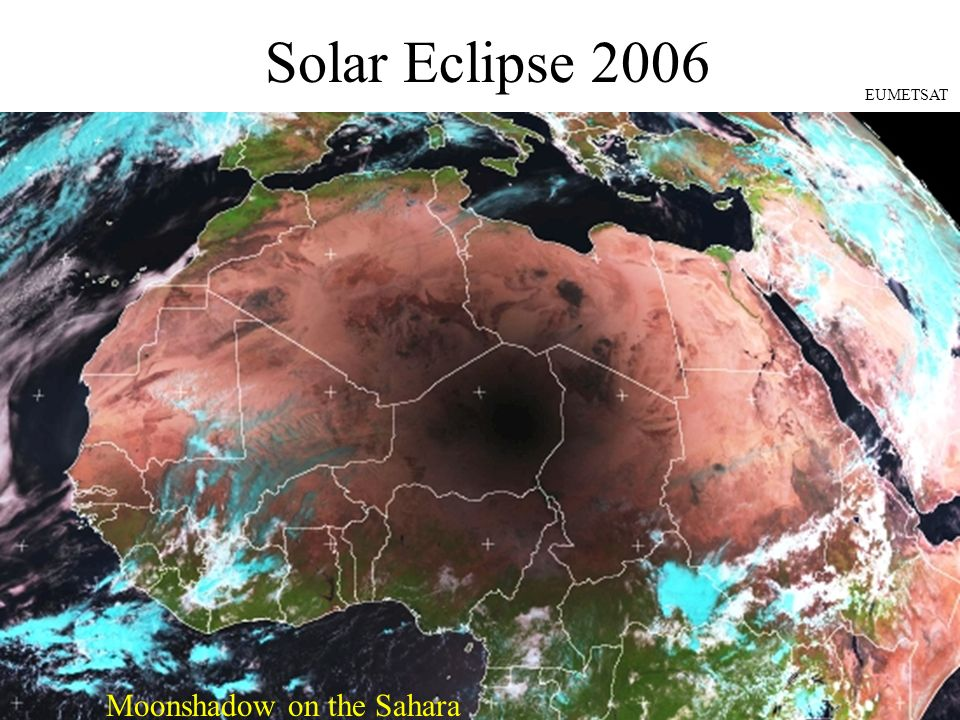 Solar Eclipse 2006 EUMETSAT Moonshadow on the Sahara