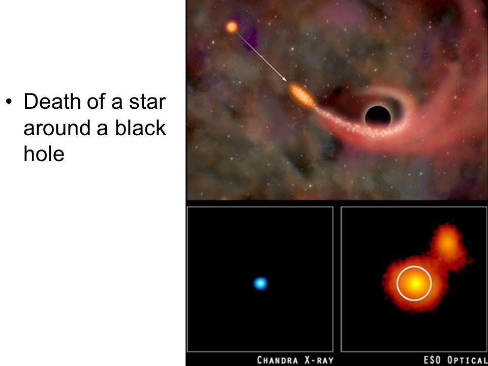 Death of a star around a black hole