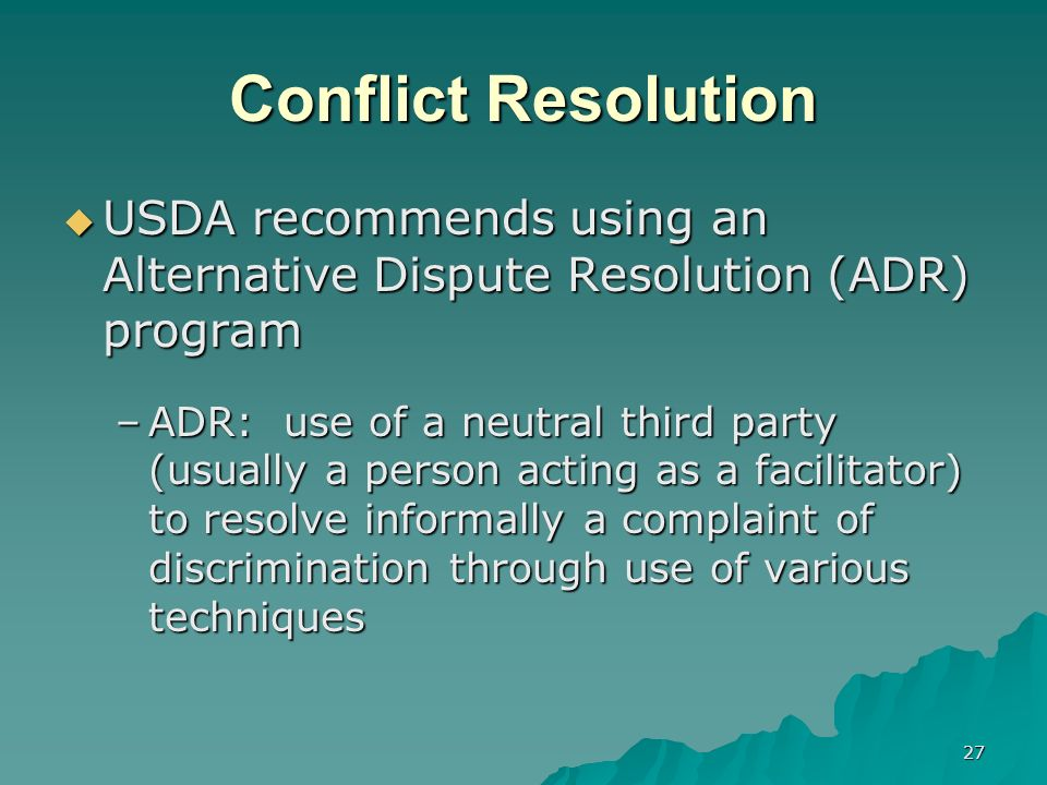 third party conflict resolution