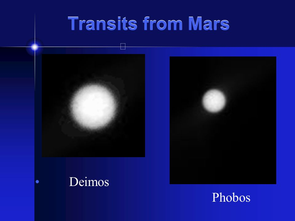 Transits from Mars Deimos Phobos