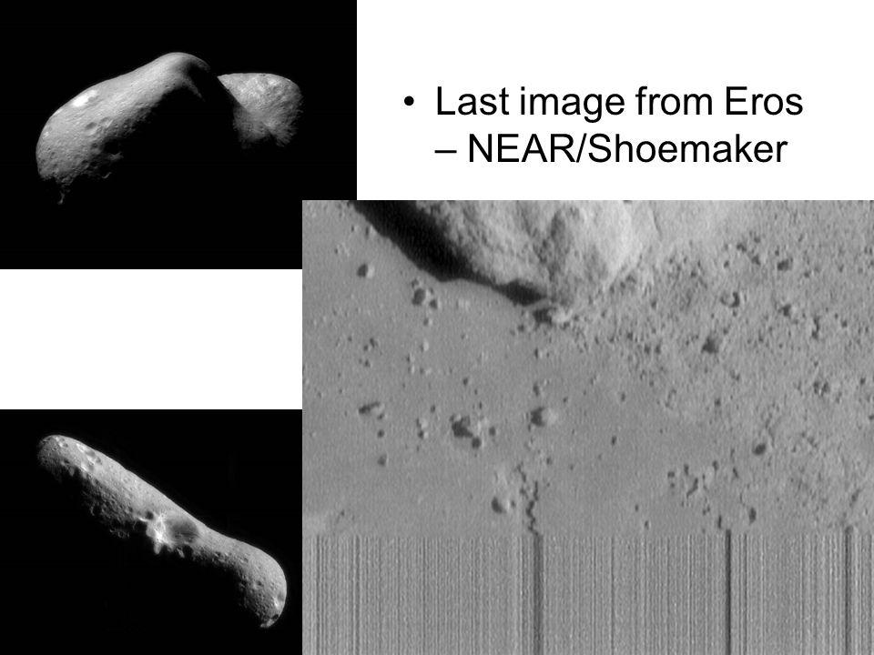 Last image from Eros – NEAR/Shoemaker
