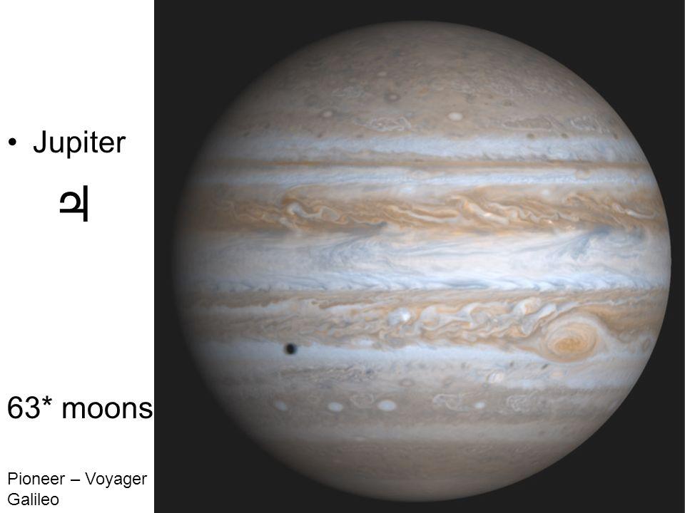 Jupiter 63* moons Pioneer – Voyager Galileo