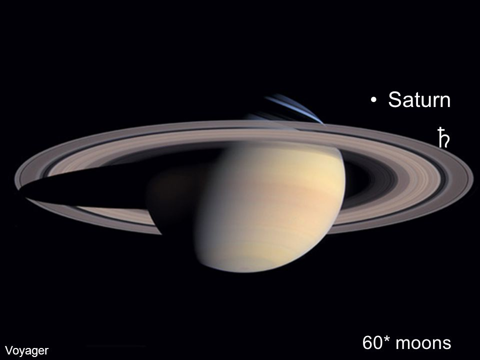 Saturn 60* moons Voyager