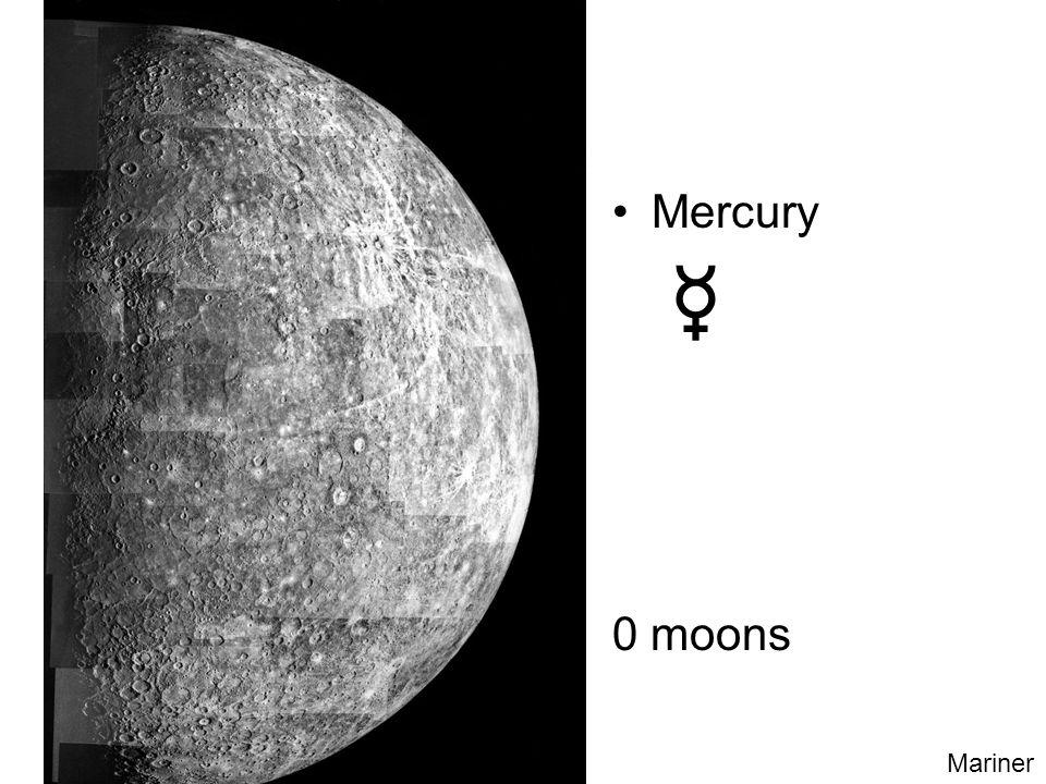 Mercury 0 moons Mariner