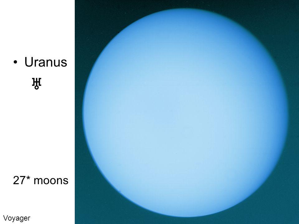 Uranus 27* moons Voyager