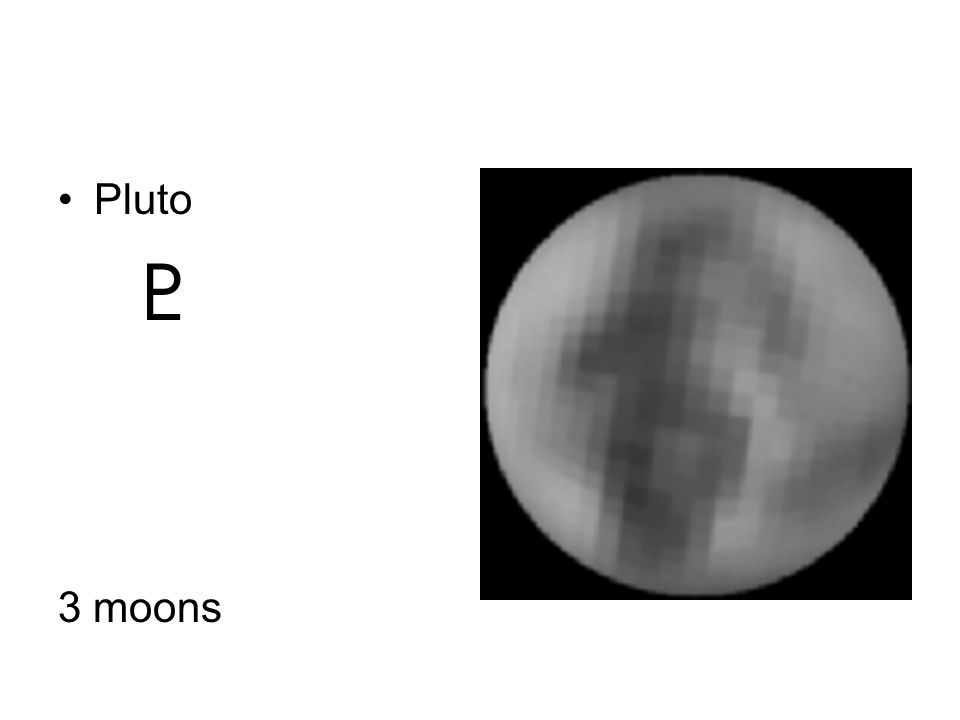 Pluto 3 moons