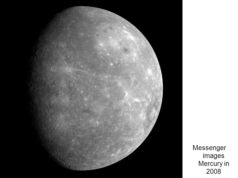 Messenger images Mercury in 2008