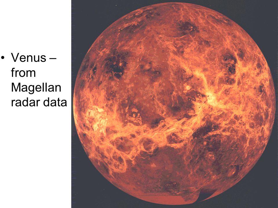 Venus – from Magellan radar data